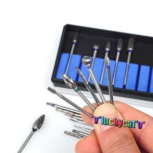 Image 3 - 20Pcs/ 2 BoxDental Burs Drills Nitrate Tungsten Steel Material 2.35mm & Dental Lab Titanium Nitrate Carbide Burs