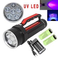 Uranusfire 395nm UV Diving Flashlight blacklight Underwater Lamp Professional Ultraviolet/White Light LED Waterproof Dive Torch|LED Flashlights|Lights & Lighting -