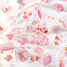 50 Pcs/lot Cute Summer Drinks Milk Kawaii Boxed Stickers Planner Scrapbooking Stationery Japanese Diary
