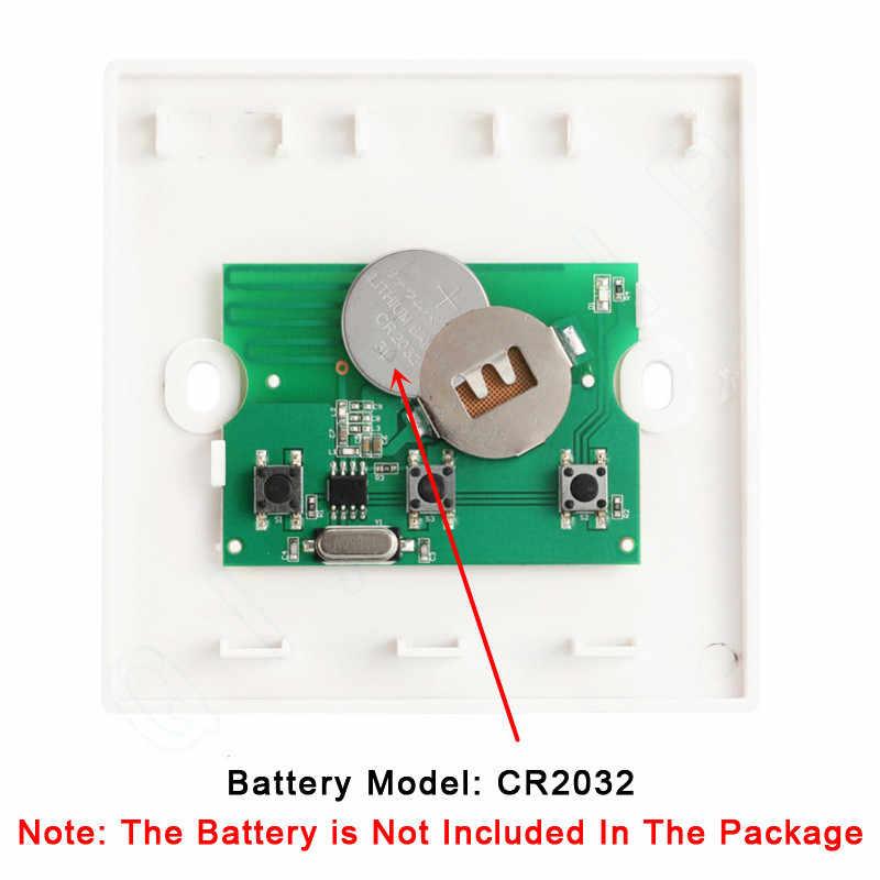 QIACHIP 433 Mhz interruptor de Control remoto inalámbrico AC 110 V 220 V receptor de luz de la lámpara LED interruptores de pasillo panel de pared interruptor