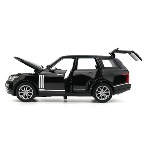 Image 3 - 1:32 Range Rover SUV Simulation Toy Car Model Alloy Pull Back Children Toys Collection Gift Off Road Vehicle Kids 6 open door