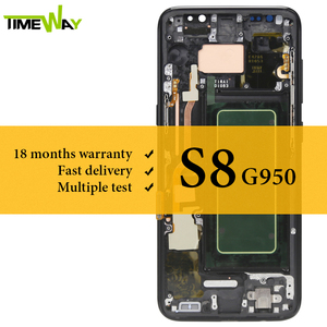Image 1 - サムスンS8 液晶、収入とスーパーamoledフレーム用のタッチスクリーンアセンブリとサムスンG950 G950F液晶画面 100% テスト