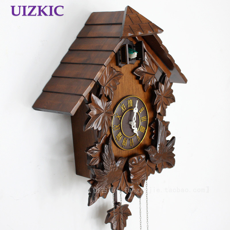online shop hot sale wooden wall cuckoo clock with bird singing and alarm for kids room decoration gifts aliexpress mobile