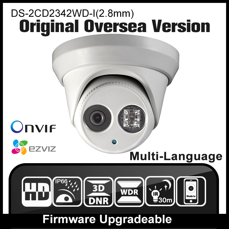 HIK DS-2CD2342WD-I(2.8mm) Original Oversea Version IP camera 4MP IPC Dome Camera CCTV Camera H265 P2P Onvif HD HIK IR 30m