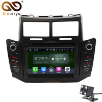 Octa Core Android 6 0 Car DVD PC Player Fit Toyota Yaris 2005 2011 Bluetooth Radio