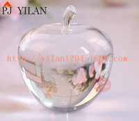 new 3d apple shape clear color crystal apple figurine for gift