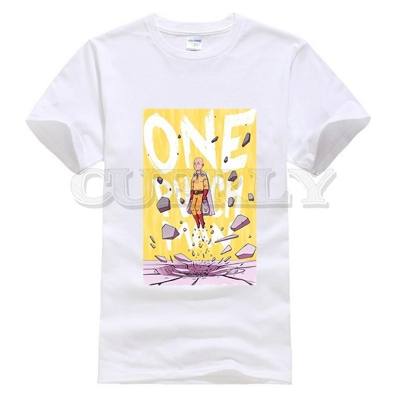 2019 New T shirt Print One Punch Man Saitama Thsirt Japan Anime Cartoon Fashion Summer Dress Men Tee Pop Boy Funny T Shirt Cozy in T Shirts from Men 39 s Clothing