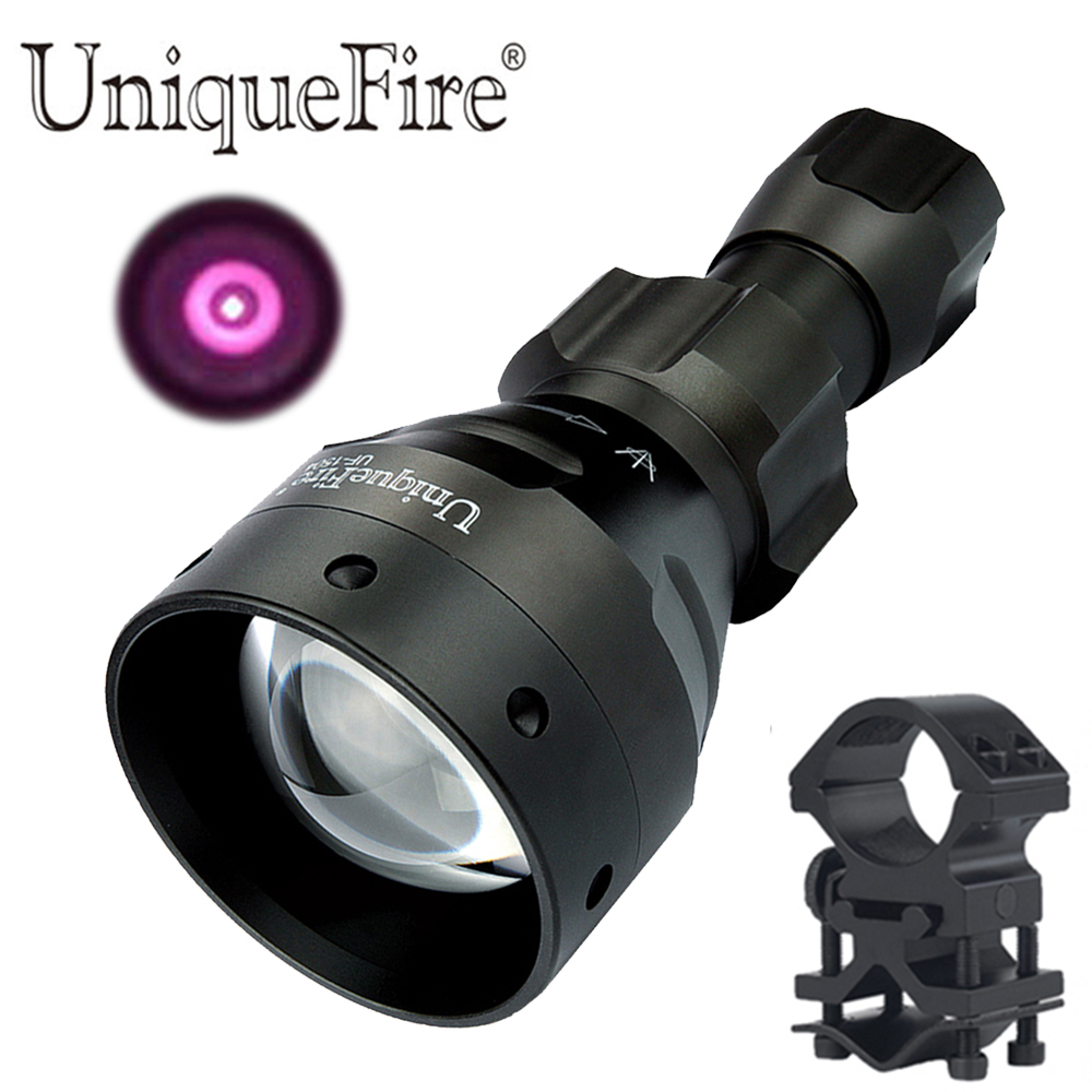 UniqueFire UF-1504 lampe de poche de chasse à lumière infrarouge Osram IR 940nm Led 3 Modes lampe torche lanterne avec support d'anneau de portée 25.4mm