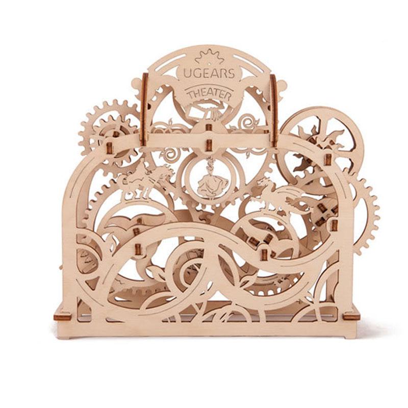 Creative Toy Diy Gear Wheel Wood Drive Pendulum Clock By 3d Wooden Model Building Log Kits