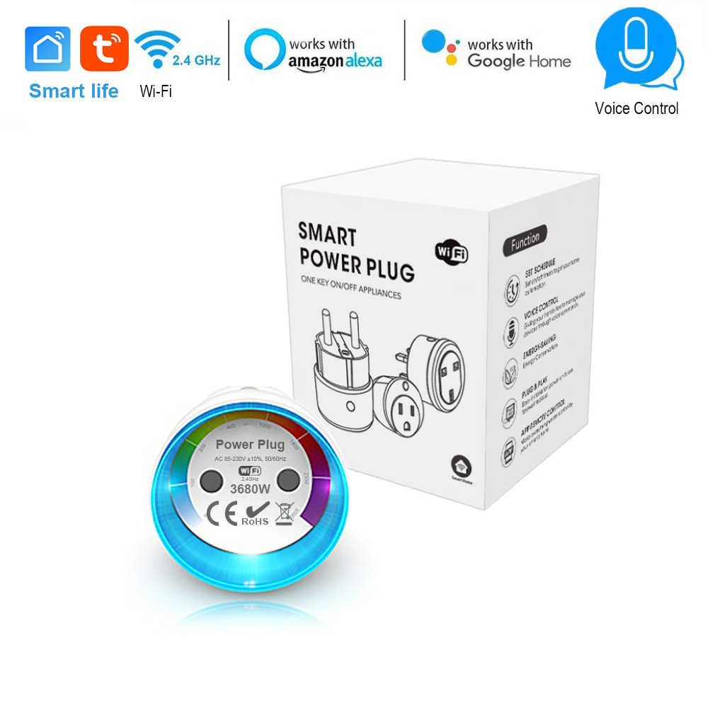 Smart Life EU Plug WiFi Control smart Socket Power Metering
