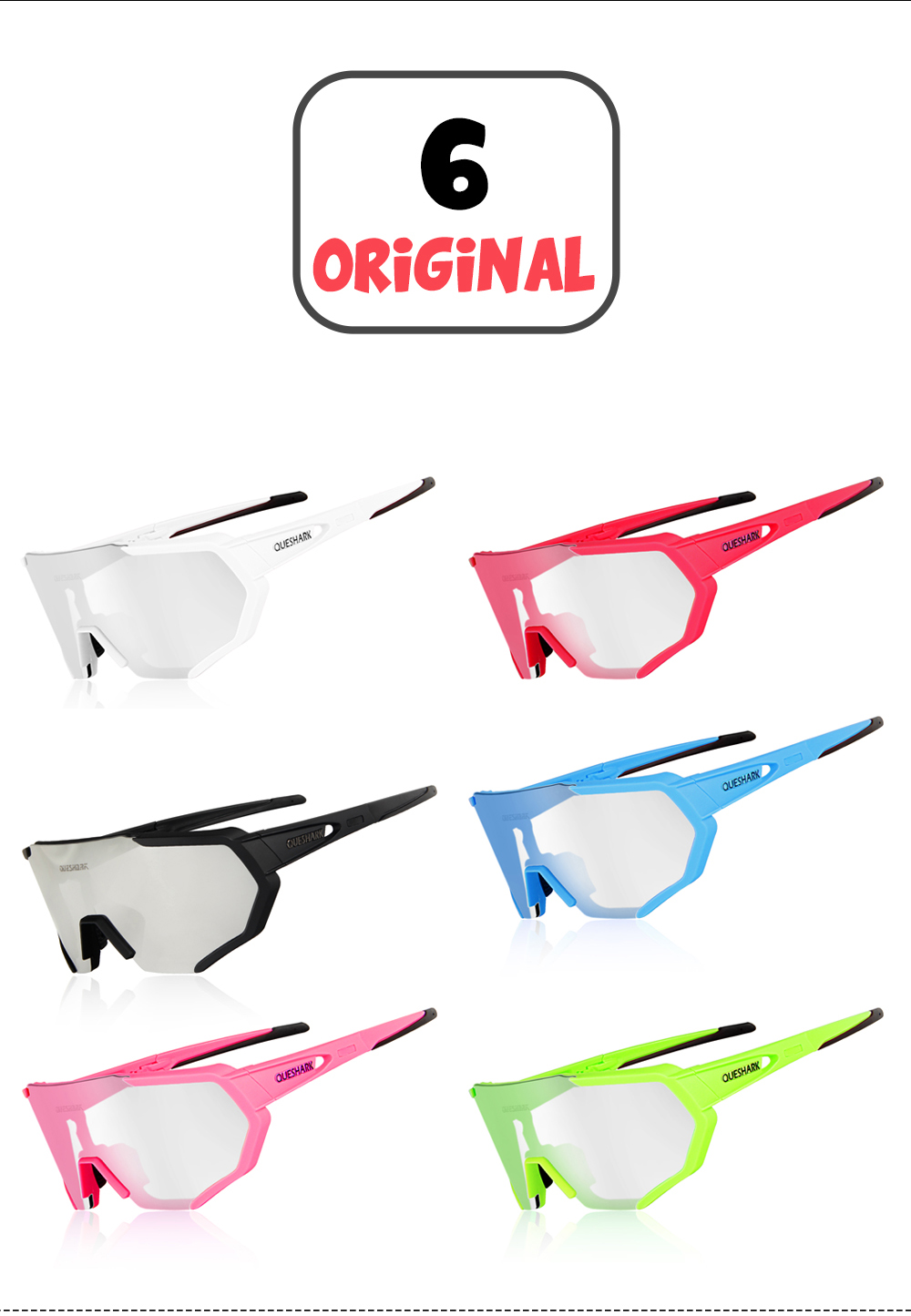 83a34e5097 1 Cleaning soft fabric sunglasses pouch 1 sunglasses Frame 1 Black Polarized  Lens 1 Full coating Lens(as the main photo showed) 1 Clear Lens