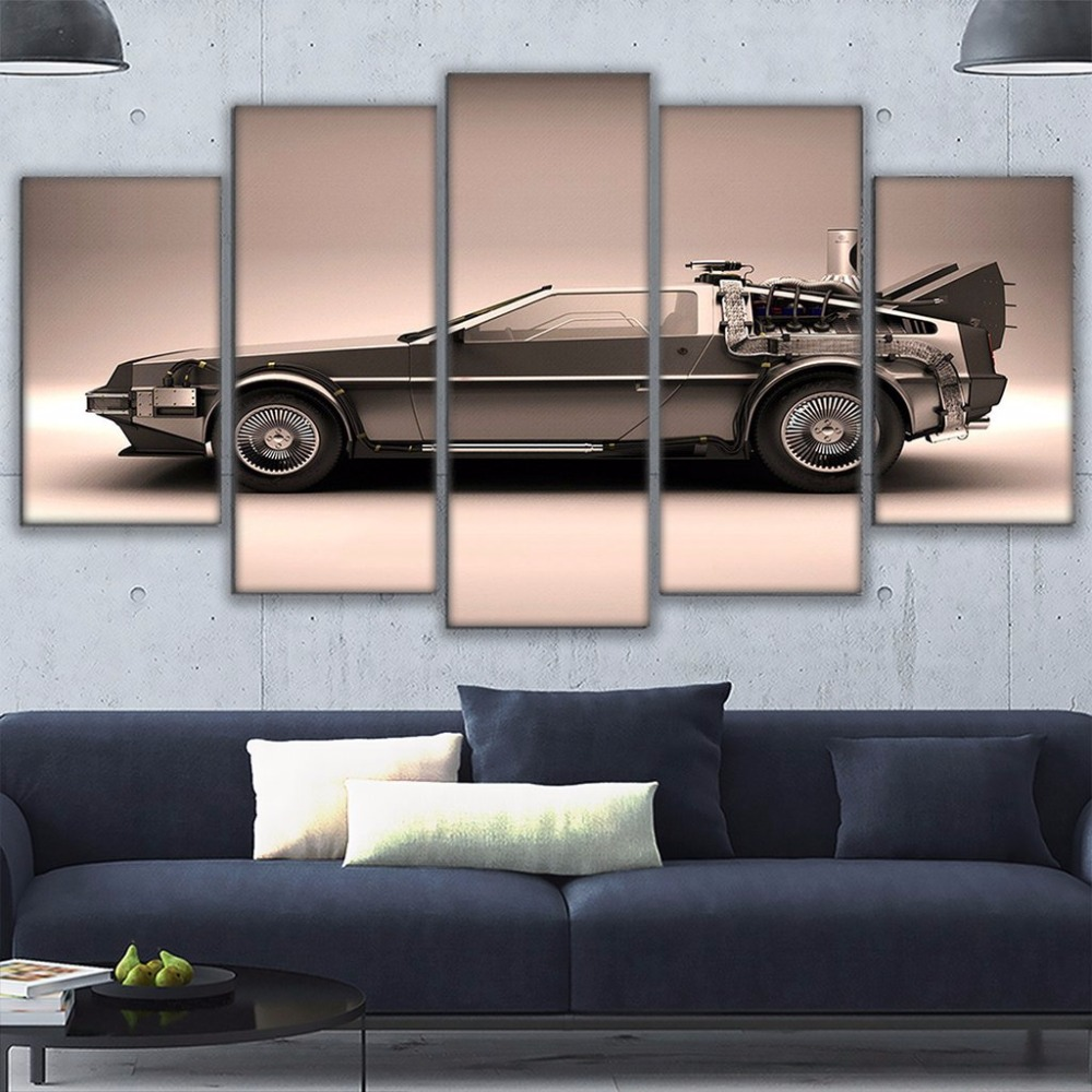 HD Home Decor Modern Canvas Living Room 5 Pieces Back To The Future Pictures Painting Wall Art Modular Printed Poster Frame