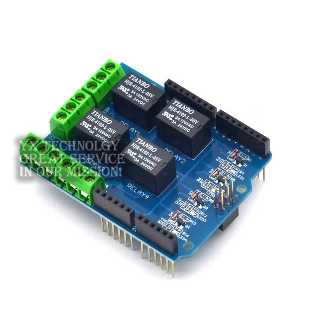 Expansion board 5V 4 - way relay module Relay Shield