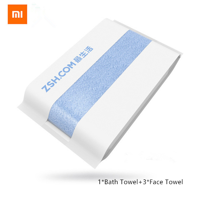 New Original Xiaomi ZSH Bath Towel 100 Cotton Bath Towel Cotton Beach Towel Washcloth Washcloth Antibacterial
