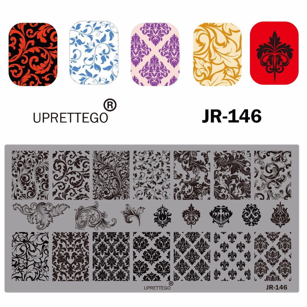 Image 2 - 2019 Stainless Steel Stamping Plate Template Russian Phrase Poker Vintage Flower Cactus Mexico Music Notes Nail Tool JR141 150-in Nail Art Templates from Beauty & Health