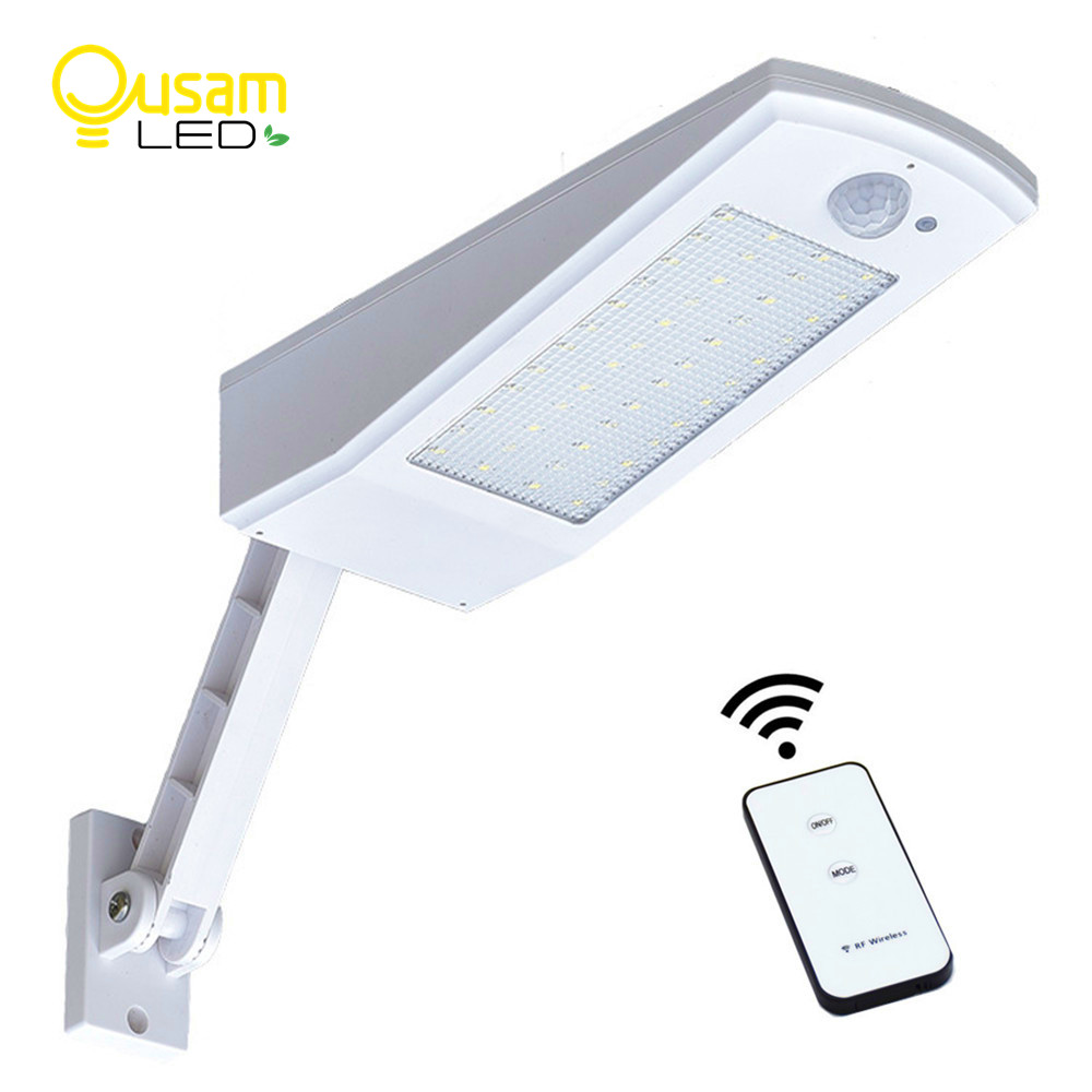 Solar Light 900LM 48LED Bulb Wall Lamp With Remote Control PIR Sensor Motion 4 Modes Adjustable Waterproof Solar Powered Lights
