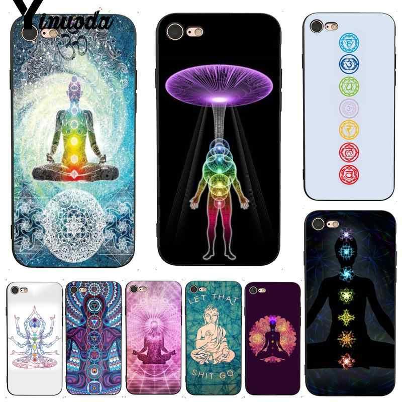 Yinuoda Luân Xa Tập Yoga In Thời Trang Phụ Kiện Điện Thoại Ốp Lưng Cho iPhone 7 6X6 S 6 Plus 7 7plus 8 8Plus X11 11pro 11 Promax