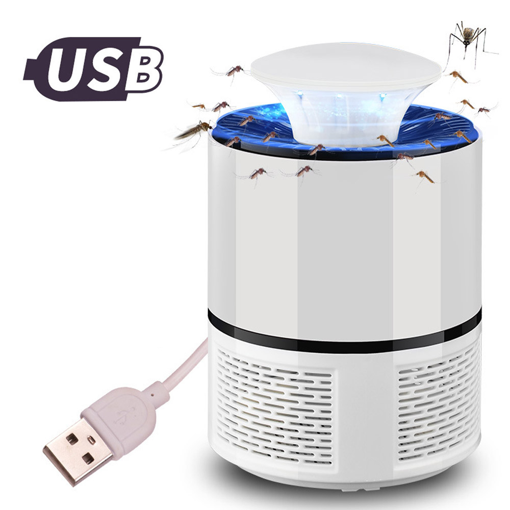 ETONTECK USB Electric Mosquito Killer Lamp Anti Mosquito Trap LED Night Light Lamp Bug Insect Killer Lights Pest Repeller