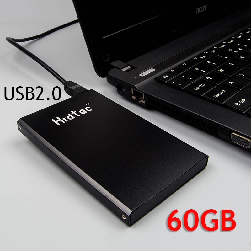 100% External Hard Drive 60G/GB USB 2.0 2.5 Portable External Hard Drive HDD 60g Hard Disk hd disco duro externo