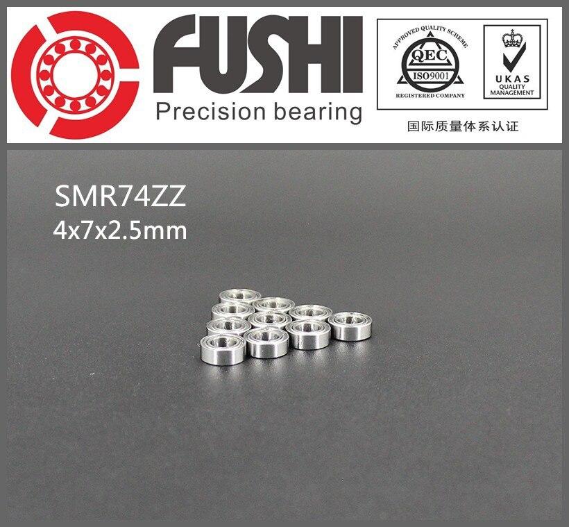 SMR74ZZ Bearing 4*7*2.5 mm ( 10PCS ) ABEC-1 Stainless Steel Ball Bearings Shielded SMR74Z SMR74 Z ZZ smr62zz abec 1 10pcs 2x6x2 5mm stainless steel miniature ball bearings smr62zz