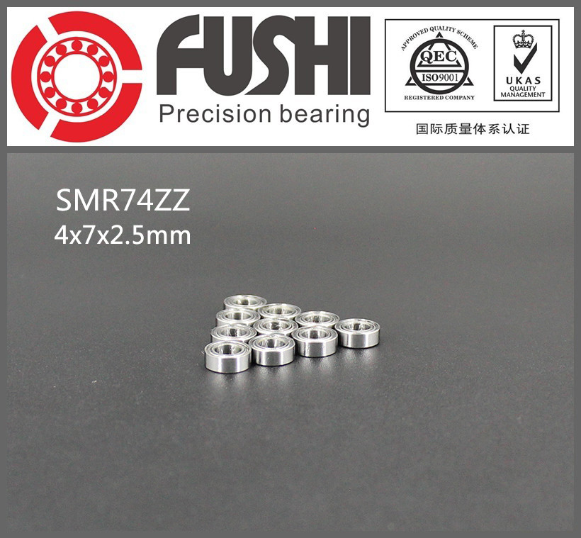 SMR74ZZ Bearing ABEC-1 (10PCS) 4x7x2.5 mm Stainless Steel SMR74 ZZ Ball Bearings Shielded S 674ZZ gcr15 6326 zz or 6326 2rs 130x280x58mm high precision deep groove ball bearings abec 1 p0