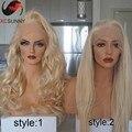 8A 180% densidad Blonde más ligero Recto Peluca Llena Del Cordón Del Pelo Humano largo Ondulado Brasileño Virginal Del Pelo Pelucas Delanteras Del Cordón Con El Pelo Del Bebé