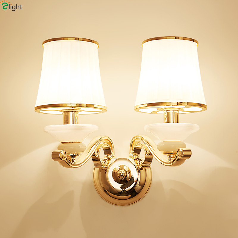 Modern Lustre Gold Metal Led Wall Lamp Marble Glass Bedroom Led Wall Lights Fixtures Living Room Led Wall Light Led Wall Sconce modern chrome metal led wall lamp lustre crystal living room led wall lights fixtures glass bedroom led wall light wall sconce