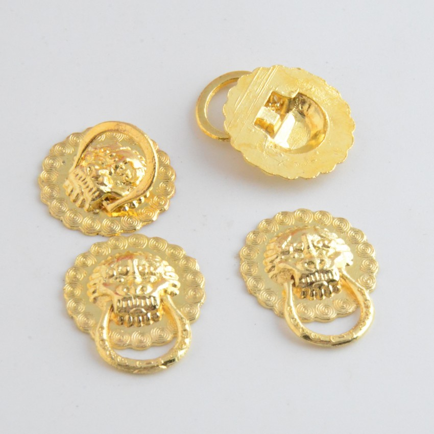 Free Shipping 20PCs Golden Jewelry Wooden Box Pull Handle Dresser Drawer For Cabinet Door Round 20mm