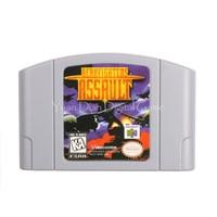 Cartucho de Jogo de Vídeo Console Nintendo N64 Cartão Aero Fighters Assalto Língua Inglês EUA Versão