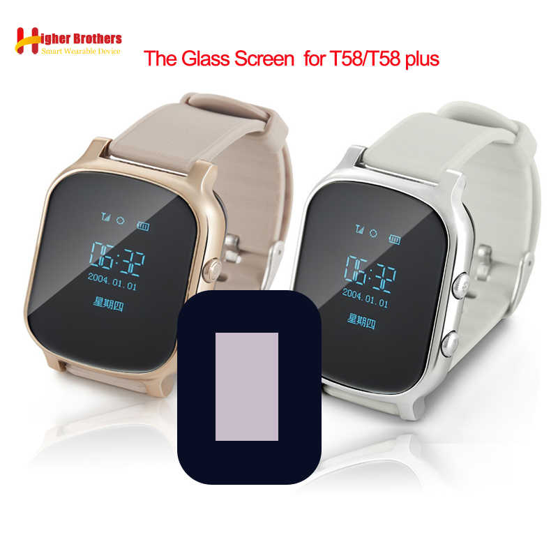 Glass Screen for T58 Baby Kids Child elder Smart Watch Q50 T58 Y3 Smartwatch Glass Screen