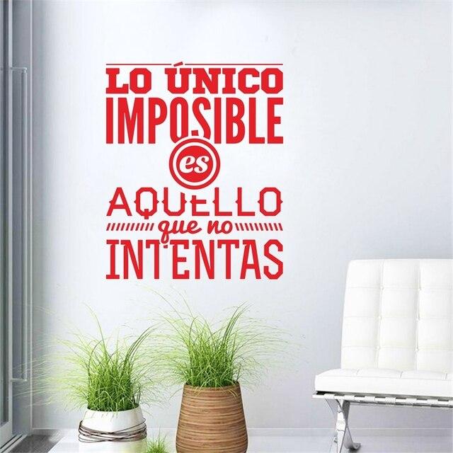 Spagnolo Inspirational Citazioni Stickers Murali In Vinile Wall ...