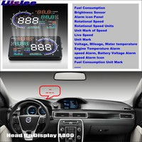 Liislee Car HUD Head Up Display For Volvo XC90 2002~2014 Refkecting Windshield Screen Safe Driving Screen Projector