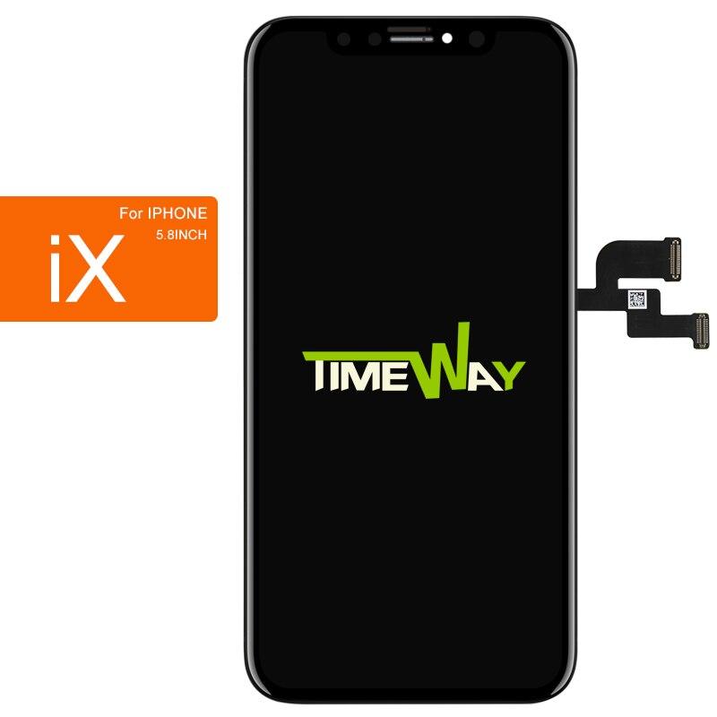 A CRISTALLI LIQUIDI Del Telefono Mobile Per iphone X XS MAX XR Dello Schermo di Buona Qualità AMOLED OEM 3D Touch Per iphone X XS MAX XR Display LCD di Montaggio