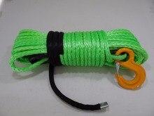 グリーン 12 ミリメートル * 30 メートル交換合成ロープウインチ、atvウインチケーブル、プラズマロープ、オフロードロープ
