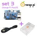Orange Pi Plus 2E  SET3: Pi Plus 2E + Transparent Acrylic Case+ USB to DC Power Cable  Support Ubuntu, Debian Beyond Raspberry