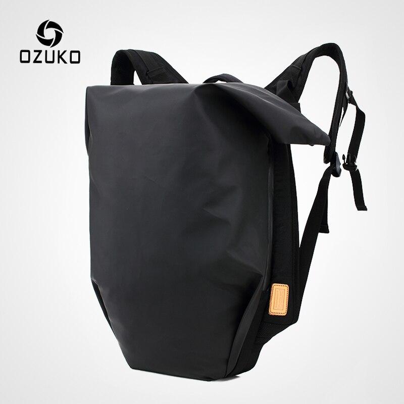 UnabhäNgig Ozuko Männer Der 15,6 Zoll Laptop Rucksack Tasche Mode Männlichen Wasserdicht Rucksäcke Schulranzen Für Jugendliche Rucksack Reise Mochila Rucksäcke