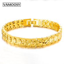 Dubai Bracelet for Women Men wedding Gold Jewelry Vintage Bracelets & Bangles Charm Bracelets For men 24K Dubai gold Bracelets 24k gold wedding jewelry charm bracelets for women luxury gold chain bracelets