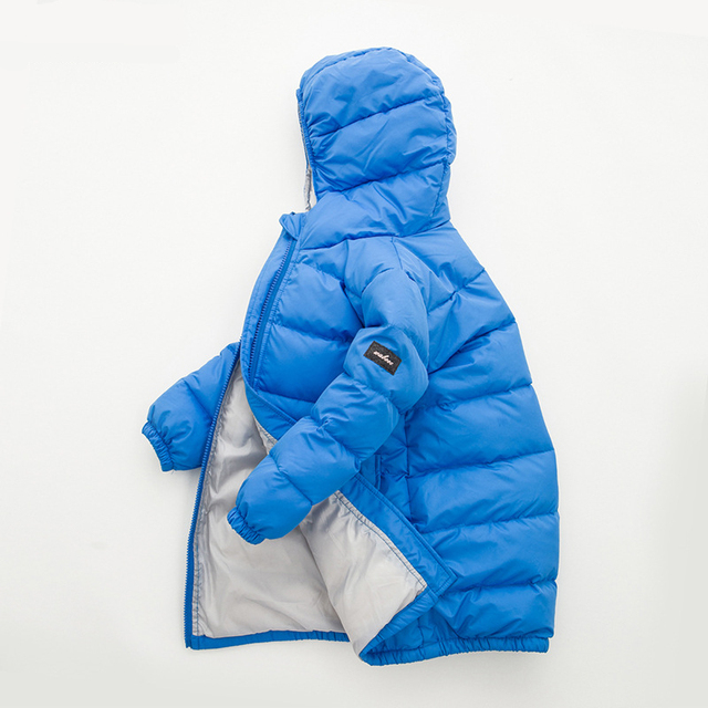 Keep Warm Down Jacket for Boys and Girls Kids Hooded Solid Down Coat Long Winter Jackets for Teenage Girls Outerwear Coat dj064