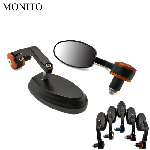 Motorcycle Rear View Side Mirror Moto Rearview Bar End cafe racer mirror For KTM Duke 125 200 250 390 690 EXC EXCF SX SXF XC XCF