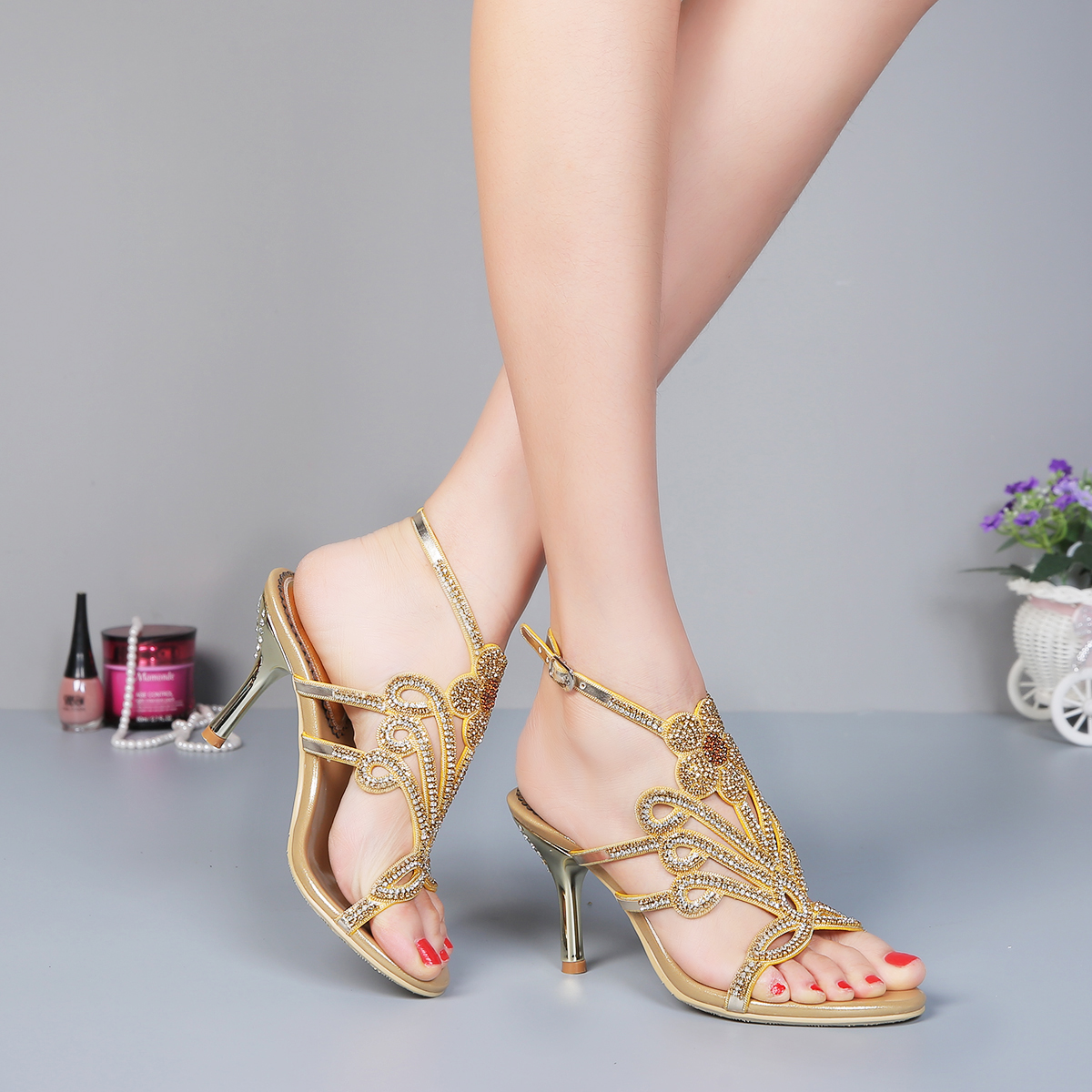 Popular Gold Strappy Heels-Buy Cheap Gold Strappy Heels lots from ...