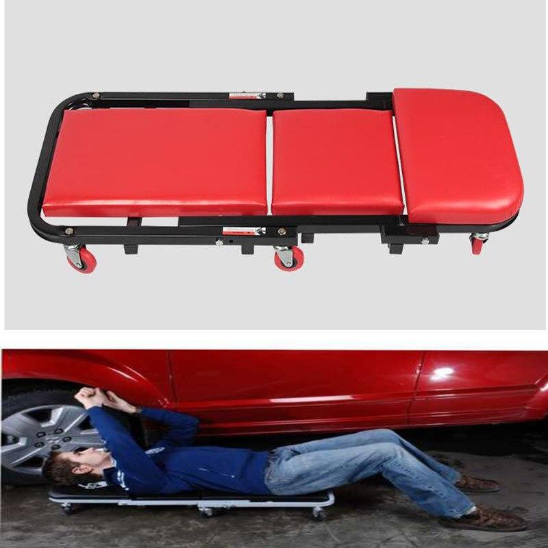 #40 ''z-creeper Opvouwbare Garage Auto Reparatie Monteur Stoel Verstelbare Stoel Kruk Auto Repareren Liggen Plaat Koop Altijd Goed