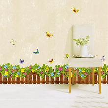 Alas tiang Hijau Rumput Tahan Air Rumput DIY Removable Art Vinyl Wall Stiker Decor Alas Tiang Hijau Tahan Air DIY Removable Art(China)