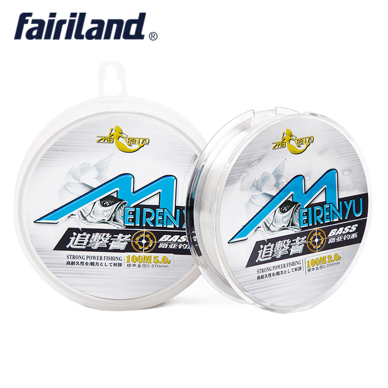 100m best fluorocarbon fishing line monofilament fishing for Fishing line test