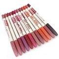 12 pçs/lote menow maquiagem hot venda de madeira assorted 12 cores à prova d' água lápis labial lápis lipliner p14002