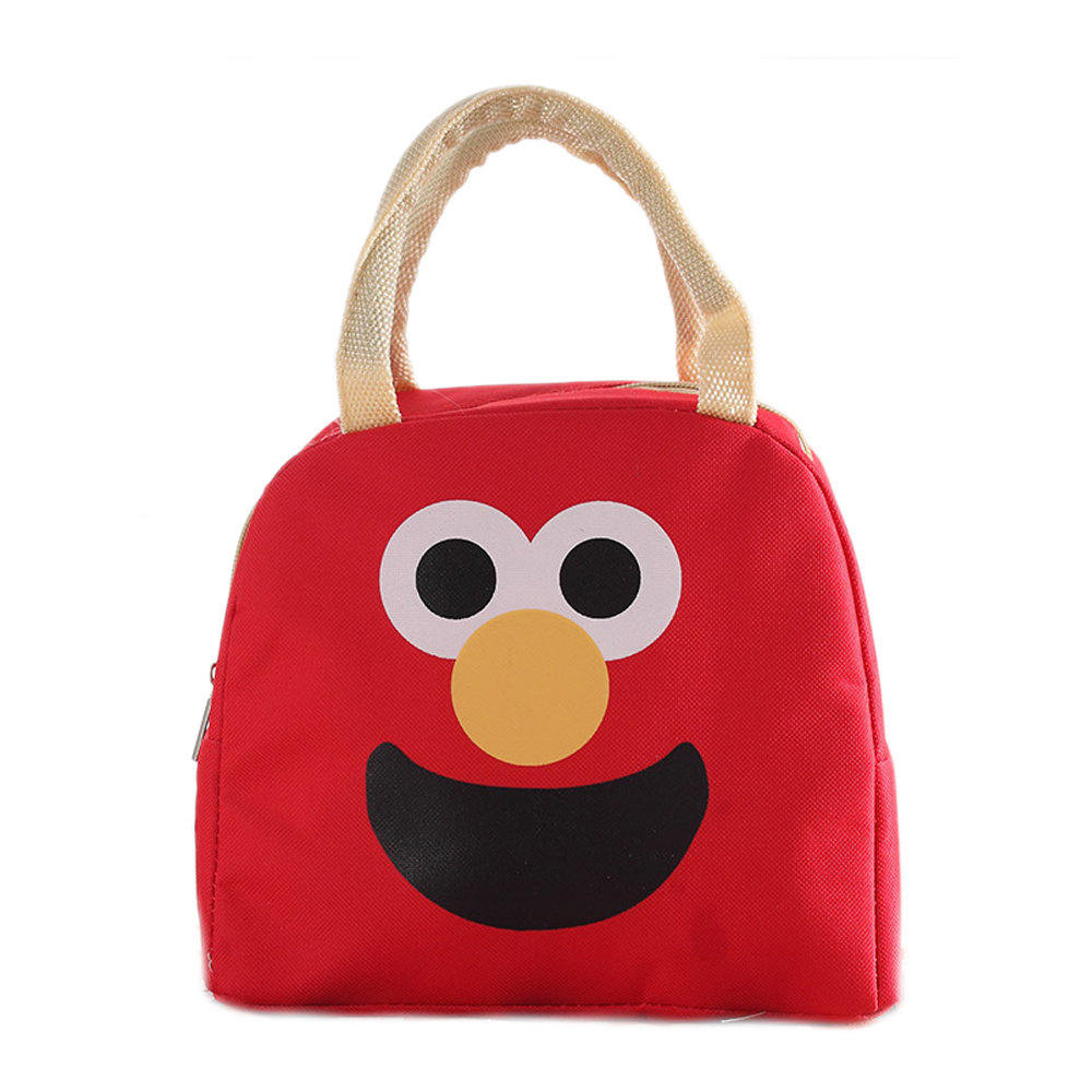Waterproof Canvas Lunch Bags for Kids Small Cooler Bag for Food Can Storage Oxford Portable Cartoon Cute Thermos Tote Lunch Bag