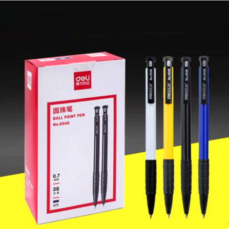 10pcs Press type ball pen ballpoint pen school stationery supplies office.