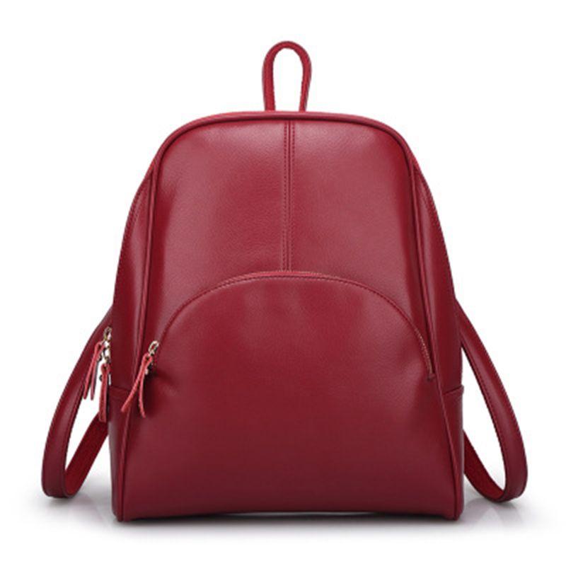 ab046807fc03 2018 Модные женские кожаные рюкзаки студенческие рюкзаки женские школьные  сумки на плечо подростковые мини-рюкзаки