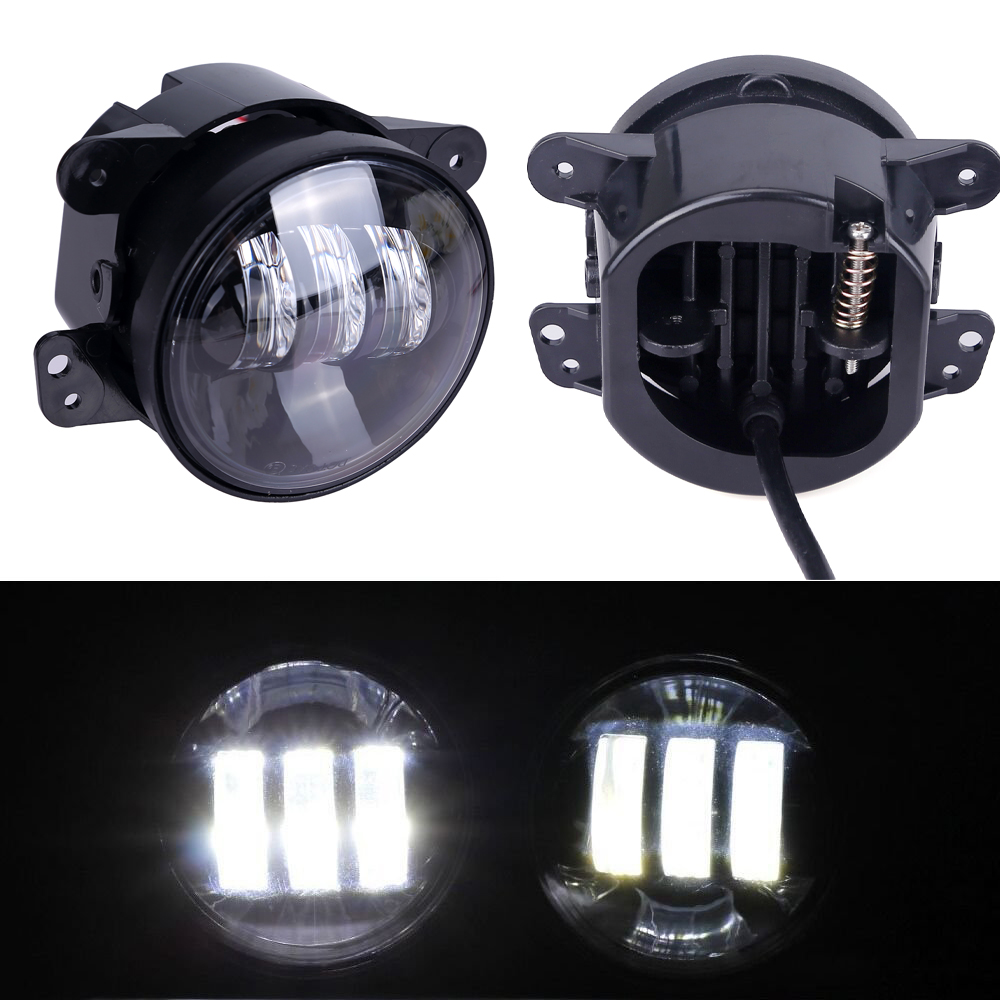 2pcs Led Round 4 inch fog lights 30w 4'' fog Lamp lens Projector Led Driving Headlamp For Offroad Jeep Wrangler Dodge Chrysler 2pcs led round 4 inch fog lights 30w 4 fog lamp lens projector led driving headlamp for offroad jeep wrangler dodge chrysler