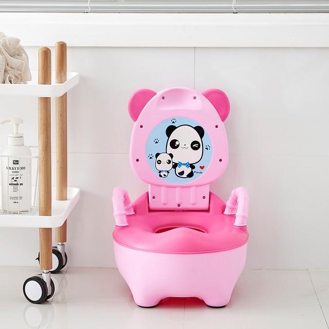 Baby Pot For Children Boys Potty Toilet Seat Baby Potty Training Girls Portable Toilets Bedpan Comfortable Backrest Cartoon Pots 3
