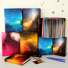 Color Pages Notebook Star Sky Planner Diary Book Korea Stationery School Supplies(China)